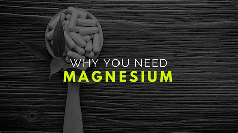six reasons you need to magnesium 6 reasons you need to supplement the underground lab