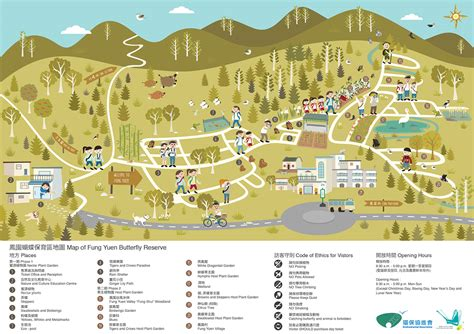 map designer fung yuen butterfly reserve map design on behance