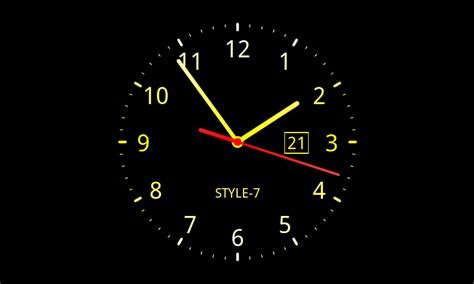 wallpaper bergerak clock analog clock live wallpaper 7 android apps on google play