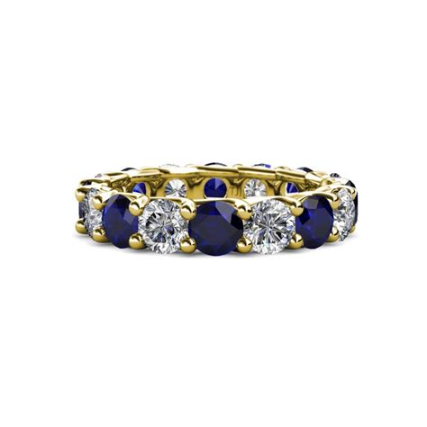 Blue Sapphire 4 35 Ct laida 4 00 mm blue sapphire and eternity band