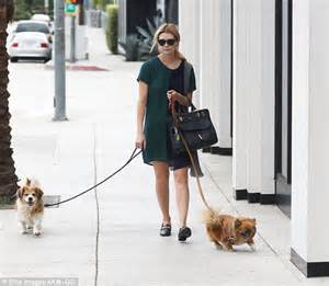 corgi and shih tzu mix mischa barton takes pair of pooches to the nail salon in beverly daily
