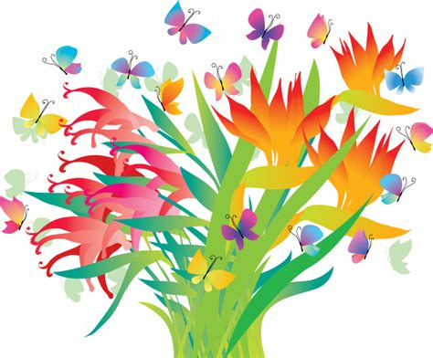 decorative flowers beautiful decorative flowers vector free vector 4vector