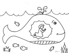 jonah and the whale coloring page the runaway prophet jonah crossmap christian