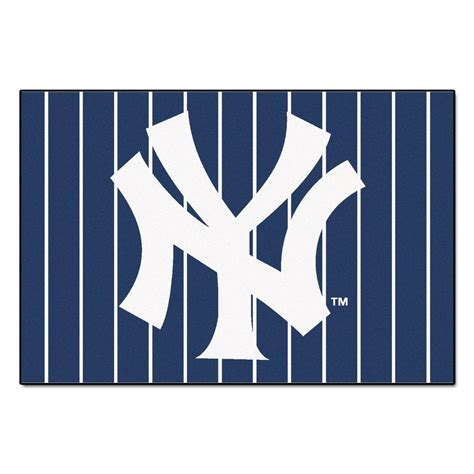 New York Yankees Area Rug Fanmats New York Yankees 5 Ft X 8 Ft Area Rug 6962 The Home Depot
