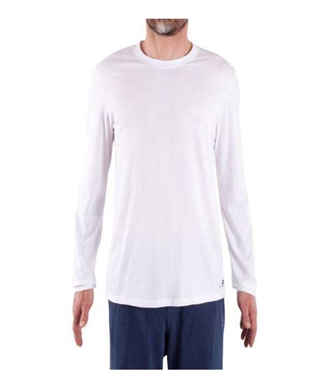 comfort man domyos comfort men s fitness essential long sleeved t
