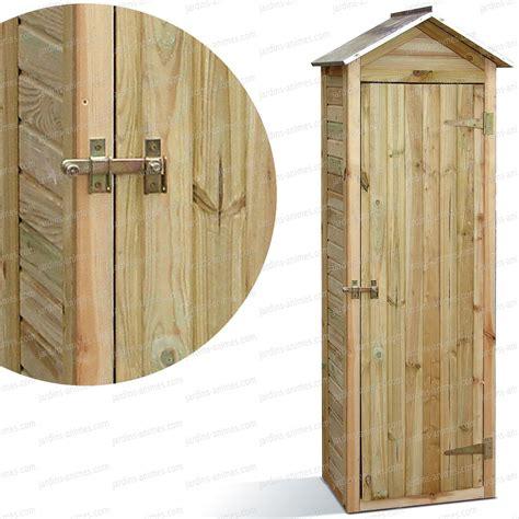 plan armoire de rangement armoire de rangement bois fsc haut 180cm mobilier de jardin
