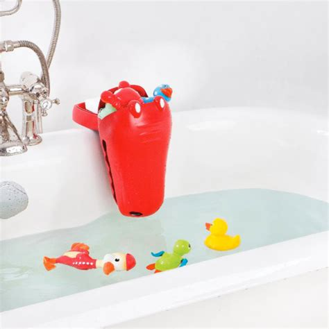 bathroom toys aquatopia croc bath toy organizer scoop with cl