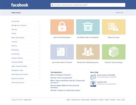 fb help facebook launches redesigned help center