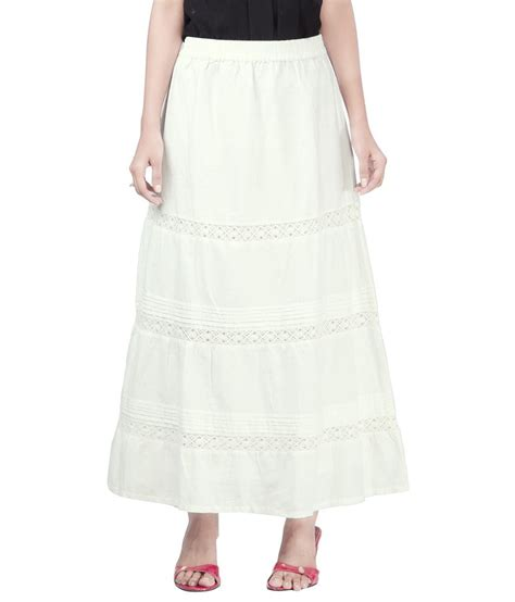 buy sfds white cotton maxi skirt at best prices in