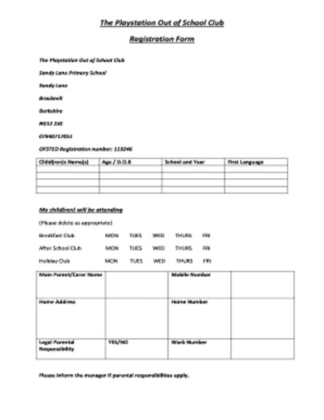 Sandy Lane Elementary School Fill Online Printable Fillable Blank Pdffiller After School Club Registration Form Template