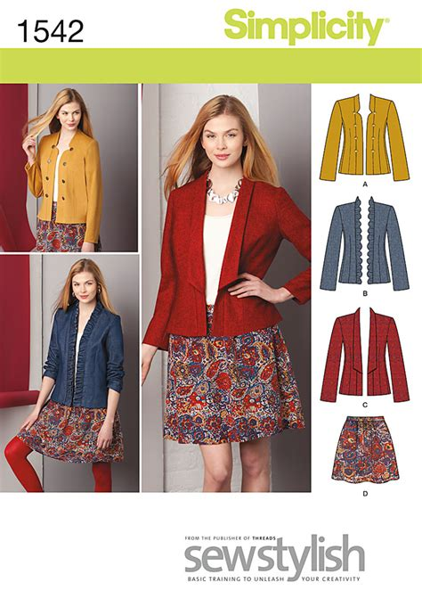 pattern review simplicity simplicity 1542 misses jacket and skirt