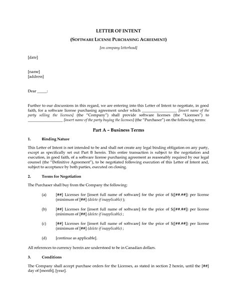 Letter Of Intent To Purchase A Business Free Letter Of Intent To Purchase Free Printable Documents