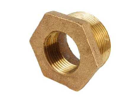 2 quot x 1 quot hex bushing mip x fip brass fitting ebay