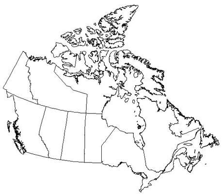 printable blank map of canada map of canada for to label