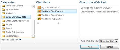 nintex workflow 2013 configuring the chart viewer webpart