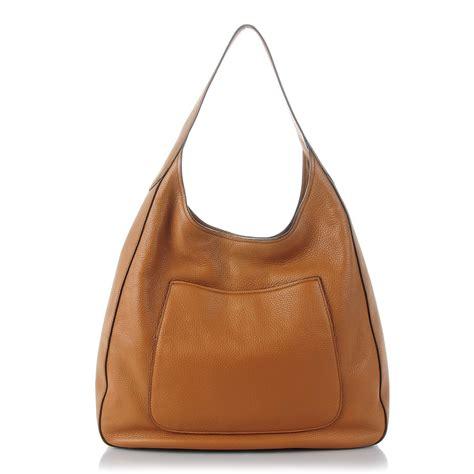 Prada Vitello Daino Mini Hobo Purse by Prada Vitello Daino Medium Pocket Hobo Bag Canella 137082