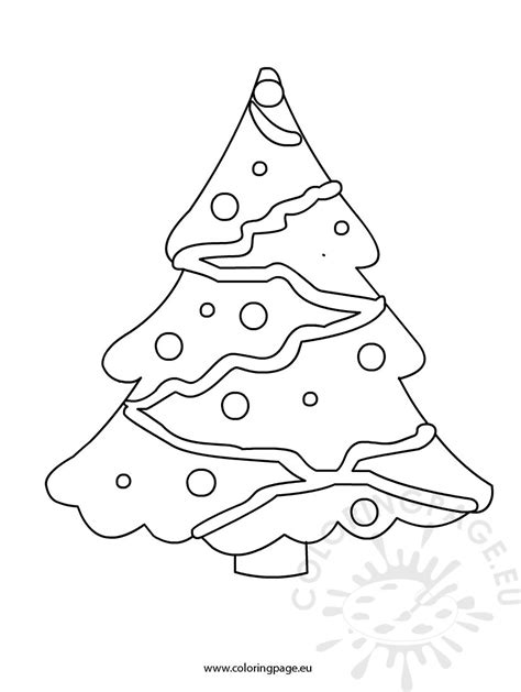 simple christmas tree coloring page easy christmas tree coloring page coloring pages