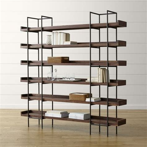 iron and wood bookshelf industrial style wood and iron bookcase beckett 6 high