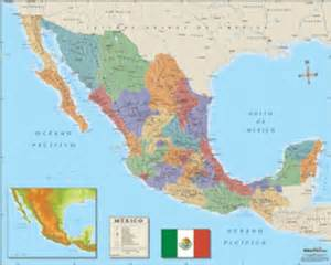 mexico wall map in maps
