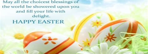 happy easter blessings facebook cover photo fbcovercom