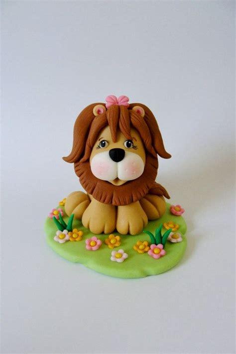 porcelana fria lion edible fondant cake topper little lion by