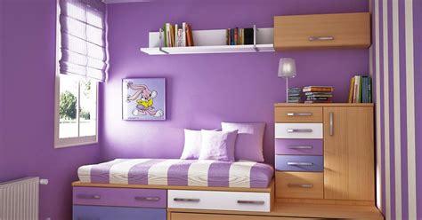 contoh kombinasi cat warna ungu  kamar minima desain rumah