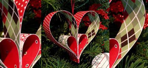 como adornar un arbol de navidad de papel manualidad corazones de papel para decorar el 193 rbol de navidad