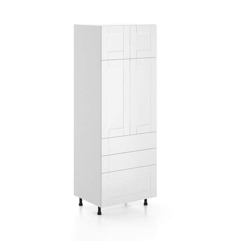 home depot pantry cabinet white eurostyle dublin ready to assemble 30 x 83 5 x 24 5 in