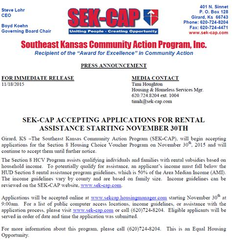 Who Is Accepting Section 8 Applications by Sek Cap