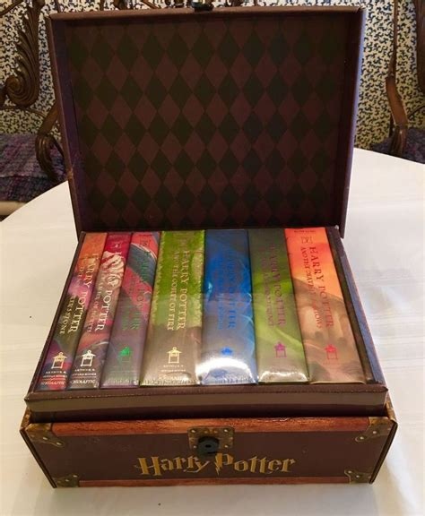 harry potter hardback box 0747553629 harry potter hardcover limited edition boxed set all 7 books in chest new ebay books