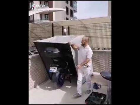 portatif motosiklet garaj youtube
