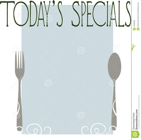 today s today s specials stock illustration image of diner