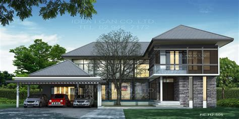 home design style resort แบบบ านสองช นสไตล ร สอร ท แบบบ าน 2 ช น 4 ห องนอน 6