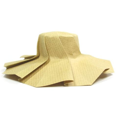 Origami Hat - how to make an origami sun hat this origami sun hat