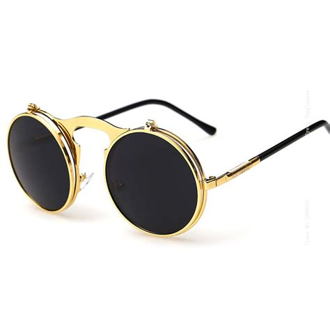 Best Flip Up Sunglasses Men Women Antique 80s 90s Wrap