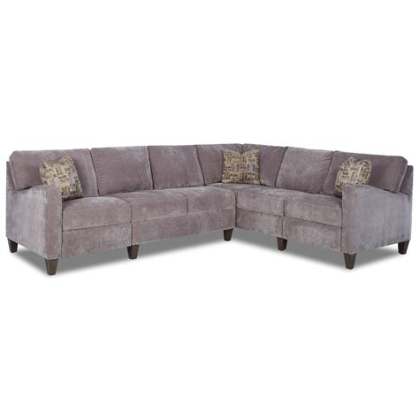 Klaussner Reclining Sofa Klaussner Colleen Hybrid Reclining Sectional With Raf Corner Sofa Johnny Janosik Reclining