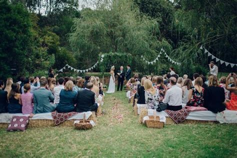 backyard wedding melbourne fun garden wedding polka dot bride