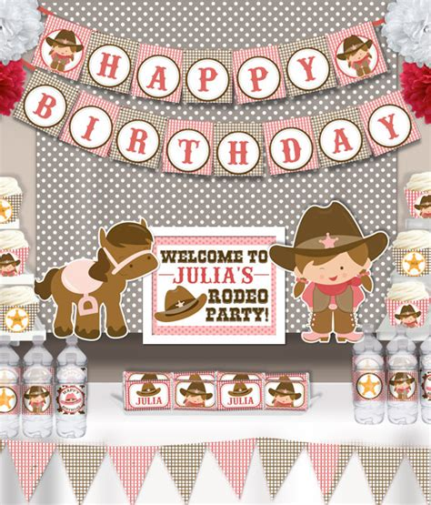 printable cowgirl party decorations cute cowgirl rodeo birthday party printable party decorations