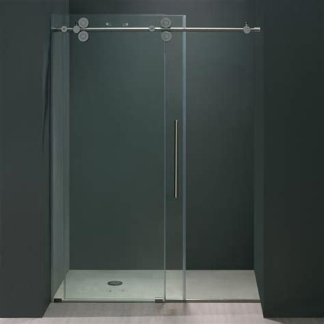 Frameless Shower Door Hardware Supplies Vigo 60 Inch Frameless Shower Door 3 8 Quot Clear Chrome Hardware Product