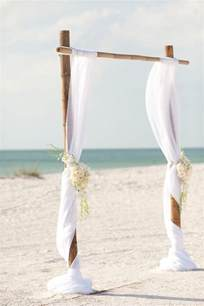Wedding Arches For The Beach Simple Bamboo White Wedding Arch On The Beach Deer Pearl Flowers