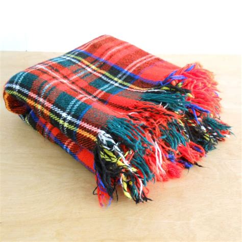 blanket for car vintage plaid wool blend blanket plaid car blanket picnic throw blanket
