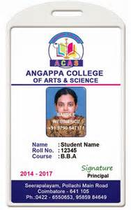 College Id Card Template by Id Card Coimbatore Ph 97905 47171 College Id Card