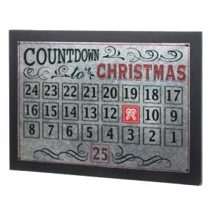 Home Accents Holiday 22 In L Metal Christmas Countdown