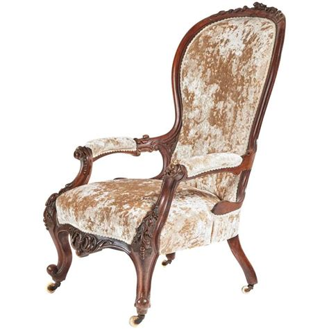 Carved Armchair by Carved Walnut Armchair For Sale At 1stdibs