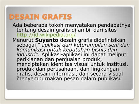 Desain Grafis Menurut Suyanto | ppt desain grafis powerpoint presentation id 2895544