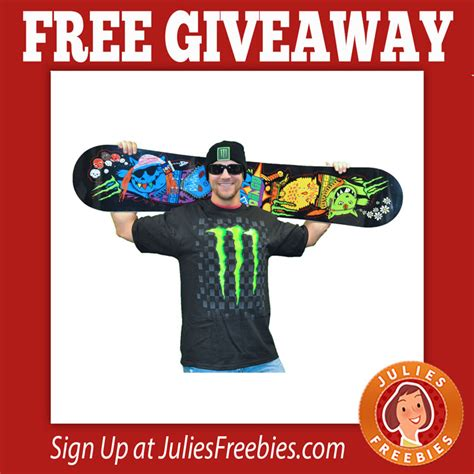 Snowboard Giveaway - free monster energy snowboard giveaway julie s freebies