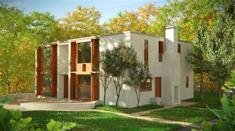 esherick house 01 rendering esherick house
