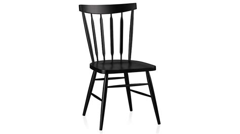 Black Wooden Dining Chairs - willa black wood dining chair crate and barrel