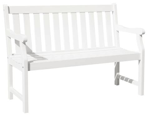 white wooden garden bench vifah vifah bradley outdoor bench in white view in