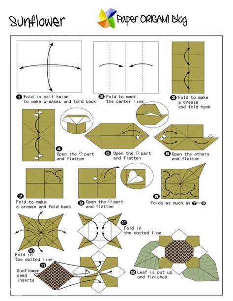 Sunflower Origami - flowers origami sunflower paper origami guide